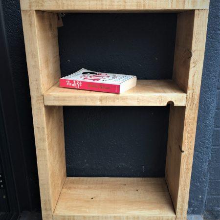 upcycled bookshelf